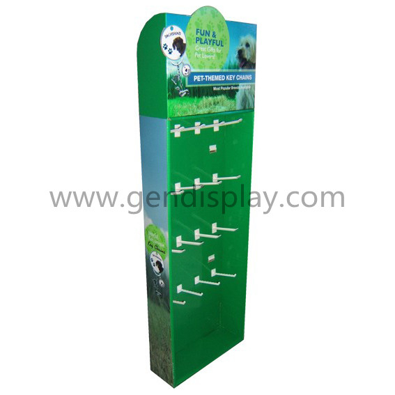 Custom Cardboard Sidekick Display With Hooks For Key Chains Promotion (GEN-SK022)