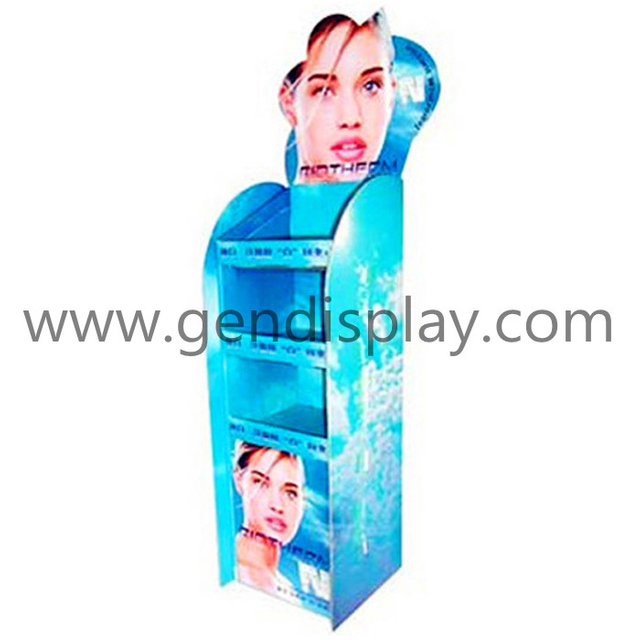 Corrugated Cosmetic Display,Pop Make Up Display (GEN-FD098)