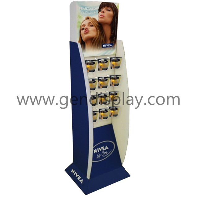 Nivea Cosmetic Floor Display,Custom Cardboard Display Stand (GEN-FD210)