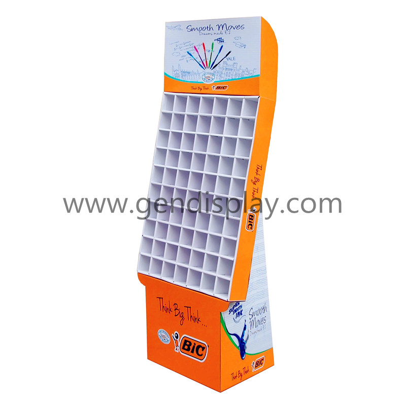 Cardboard Pockets Display Stand, Cells Display For Pen Promotion(GEN-CP005)