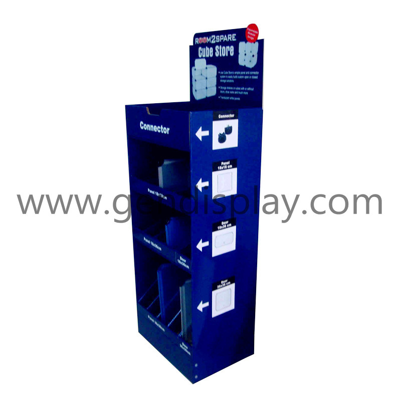 Cardboard Display Shelf, Retail Floor Display Unit(GEN-FD018)