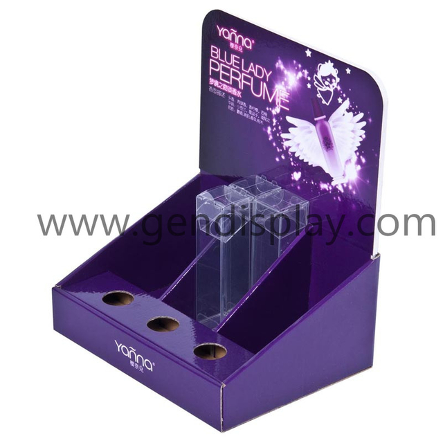Custom Counter Display With Full Printing For Perfume Promotion (GEN-CD078)