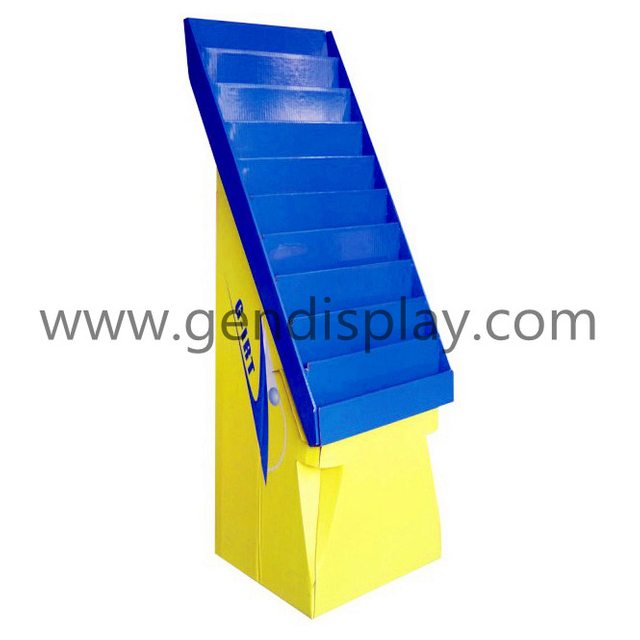 Custom Cardboard Floor Cards Display Stand For Promotion(GEN-FD077)