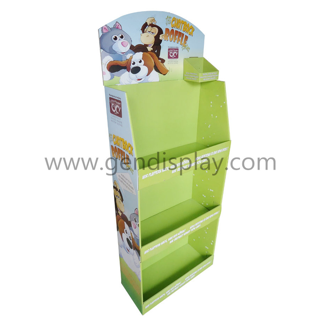 Toys Cardboard Floor Display Unit With Shelves(GEN-FD310)
