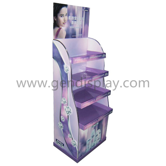Pos Cardboard Facial Mask Display, Cosmetic Display Stand (GEN-FD229)