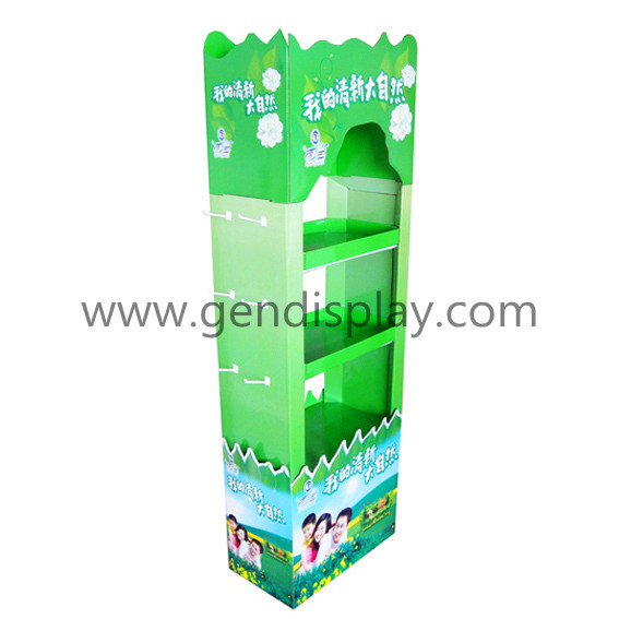 Custom Cardboard Chutty Display Stand With Hooks (GEN-HD001)