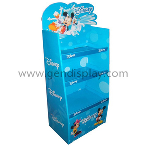 Cardboard Custom Pop DISNEY Toys Floor Display Shelf Stand (GEN-FD317)