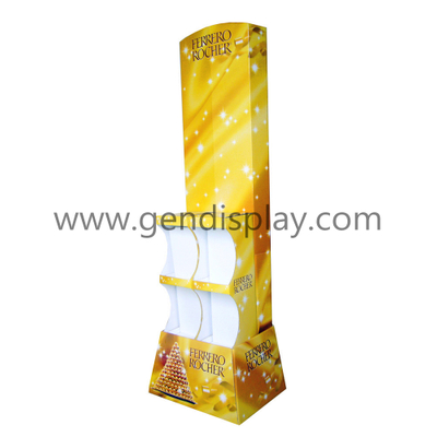 Promotion Cardboard Chocolate Display Shelf, Custom Chocolate Display (GEN-FD014)