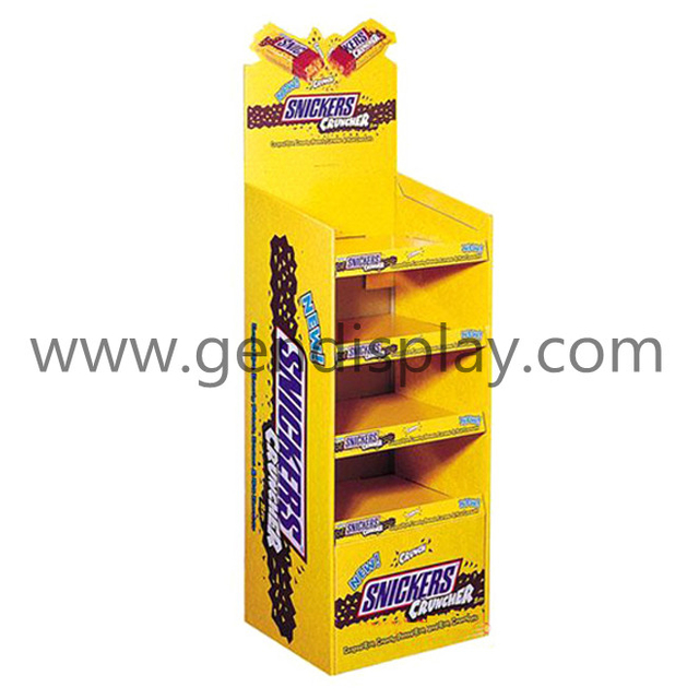 Pos Cardboard Snickers Display Unit, Custom Display Stand (GEN-FD072)