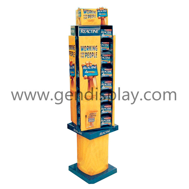 Cardboard Floor Display, Custom Display Stand (GEN-FD112)