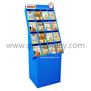 Promotional Cardboard Books Display, Books Floor Display Shelf (GEN-CP008)
