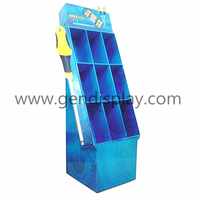 Compartment Floor Display, Retail Cells Display Stand(GEN-CP135)