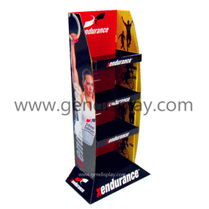 Promotional Cardboard Sports Floor Display Shelf Stand (GEN-FD215)