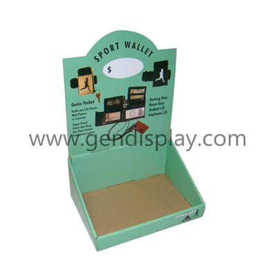 Pos Cardboard Counter Display Box For Sports Wallet Promotion (GEN-CD074)