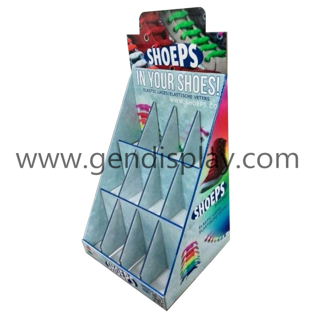 Cardboard Shoelaces Counter Display, Counter Display Box(GEN-CD246)