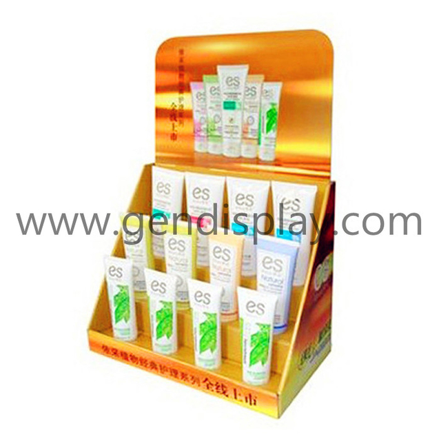 Cardboard Cosmetic Counter Display, Pos Countertop Display (GEN-CD053)