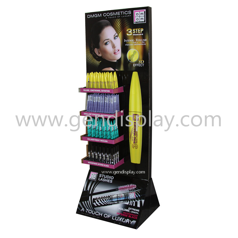 POP Cardboard Eyeliner Cosmetic Floor Display Stand(GEN-FD273)