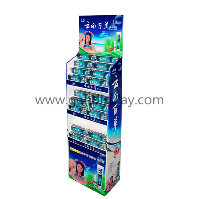 Toothpaste Cardboard Display, Pop Floor Display (GEN-FD074)