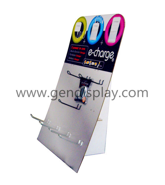 Cardboard Charger Standee Display Stand With Hooks (GEN-SD002)
