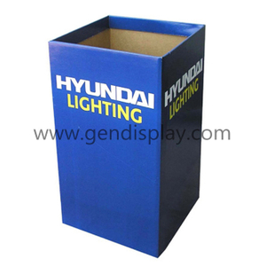 Pop Cardboard Dump Bins Display Stand For Hyundai Lighting (GEN-DB011)