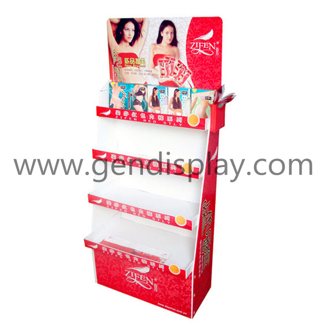 Cardboard Garments Floor Display, Pos Garment Display Stand (GEN-FD012)