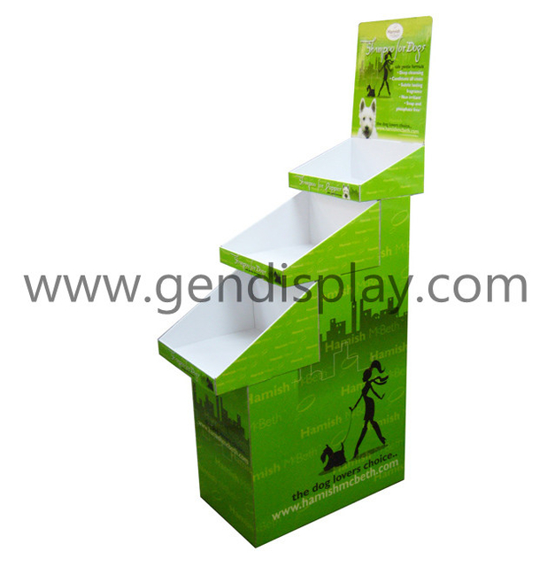 Cardboard Trapeziform Floor Display Stand, Pos Display Unit(GEN-FD049)