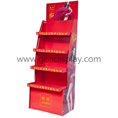 Custom Cardboard Floor Display Shelf For Socks Promotion(GEN-FD080)