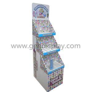 Cardboard Trapeziform Floor Watches Display Shelf (GEN-FD323)