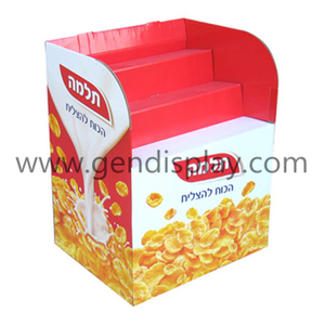Promotional Cardboard Snacks Bins Display Stand Unit(GEN-DB013)