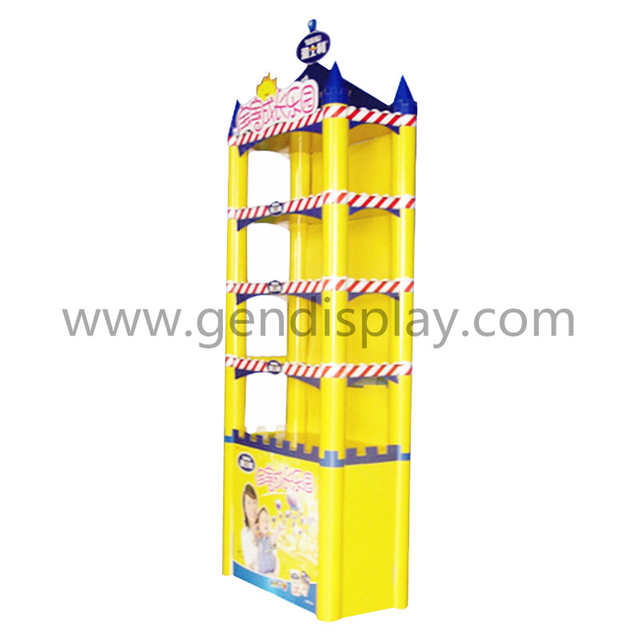 Custom Cardboard Floor Display Stand For Toys Promotion(GEN-FD019)